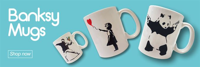 View our range of Galaxy Xtra Banksy Mugs