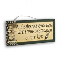 Fisherman - Mini Magnetic Plaque