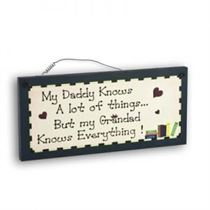 Grandad Knows - Mini Magnetic Plaque