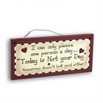 Not Your Day - Mini Magnetic Plaque