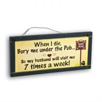 Under The Pub - Mini Magnetic Plaque
