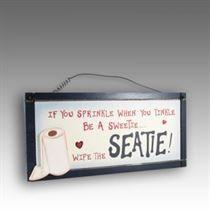 Wipe The Seatie - Mini Magnetic Plaque