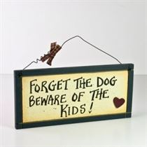 Beware Kids - Wooden Plaque