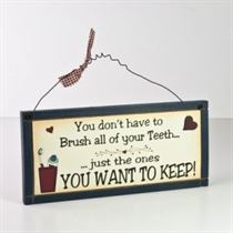 Brush Your Teeth - Wooden Plaque