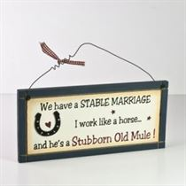 Stable Marriage - Wooden Plaque