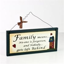 Family Means - Wooden Plaque