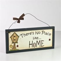 No Place Like Home - Wooden Plaque