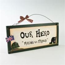 Our Hero - Wooden Plaque