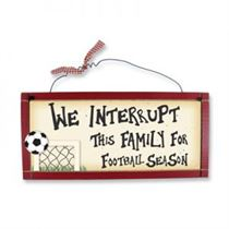 Football Season - Wooden Plaque