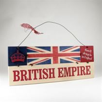 British Empire Plaque - Wooden Plaque