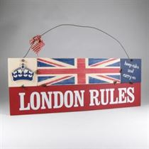 London Rules Plaque - Wooden Plaque
