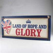 Hope And Glory Plaque - Wooden Plaque