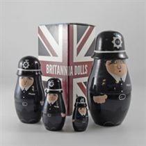 Policeman - Russian Matryoshka Nesting Dolls