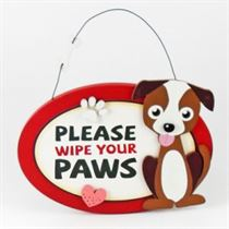 Please Wipe Paws - Pet Hangers
