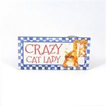 Crazy Cat Lady - Mini Magnetic Plaque