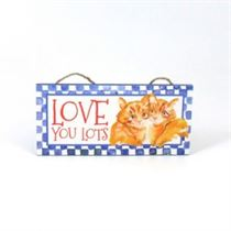 Love You - Mini Magnetic Plaque