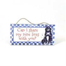 Nine Lives - Mini Magnetic Plaque