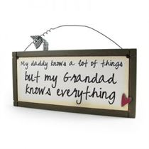 My Daddy Knows - Sweet Sentiments Plaque