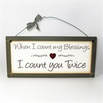 Count My Blessings - Sweet Sentiments Plaque