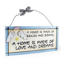 House Home Love And Dreams - Sweet Sentiments Plaque