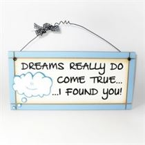 Dreams Do Come True - Sweet Sentiments Plaque