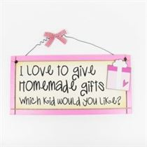 Love to Give Homemade Gifts - Sweet Sentiments Plaque
