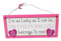 World's Best Mum - Sweet Sentiments Plaque