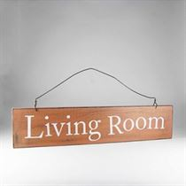 Living Room - Wooden Door Sign