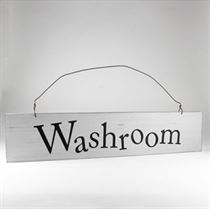 Washroom - Wooden Door Sign