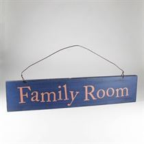 Family Room - Wooden Door Sign