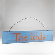 The Kids - Wooden Door Sign
