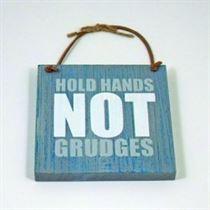 Hold Hands - Wooden Hangers
