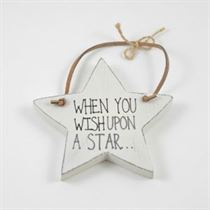 When You Wish - Star Wooden Hanger