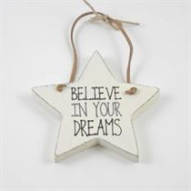Believe In Your Dreams - Star Wooden Hangers