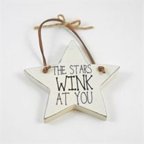The Stars Wink At You - Star Wooden Hanger