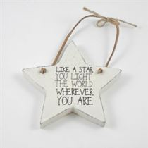 You Light The World - Star Wooden Hangers