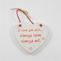 I Love You Still - Red Loving Heart Hanger