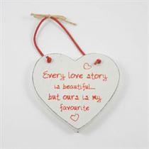 Every Love Story - Red Loving Heart Hanger