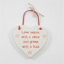 Love Begins - Red Loving Heart Hanger
