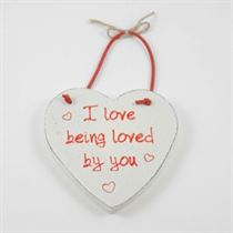 I Love Being Loved - Red Loving Heart Hanger