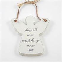 Angels Are Watching - Angel Wooden Hanger
