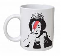 Banksy - Queen as 'Aladdin Sane' Mug