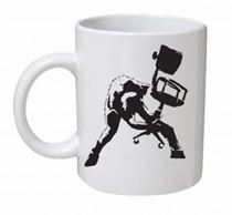 Banksy - Bombed Out Punk Mug
