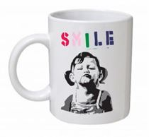 Banksy - Smile Mug