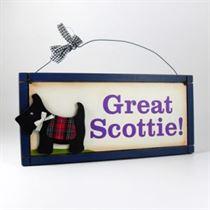 Great Scottie - Wooden Scottish Plaque