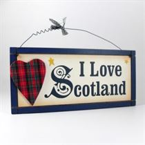 I Love Scotland - Wooden Scottish Plaque