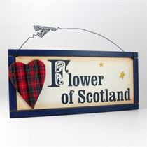 Flower of Scotland - Wooden Scottish Plaque