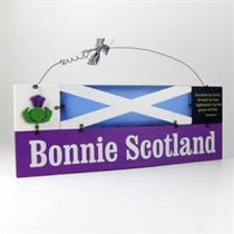 Bonnie Scotland - Wooden Scottish Plaque