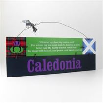 Caledonia - Wooden Scottish Plaque