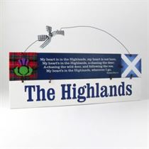 The Highlands - Wooden Scottish Plaque